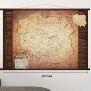 Turystyczna Mapa Polski na ścianę