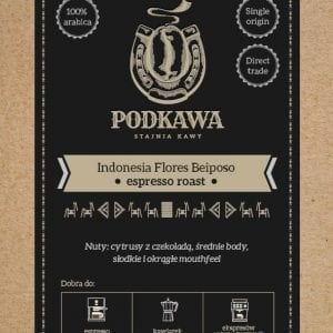 Kawa arabica flores beiposo Podkawa
